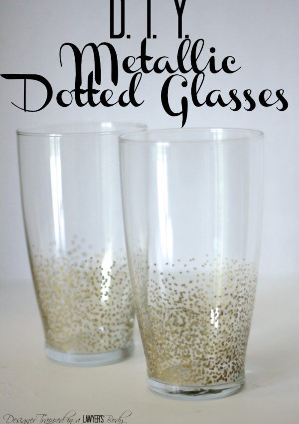 Knock Out Knock Offs: Anthropologie Inspired Metallic Dotted Glasses