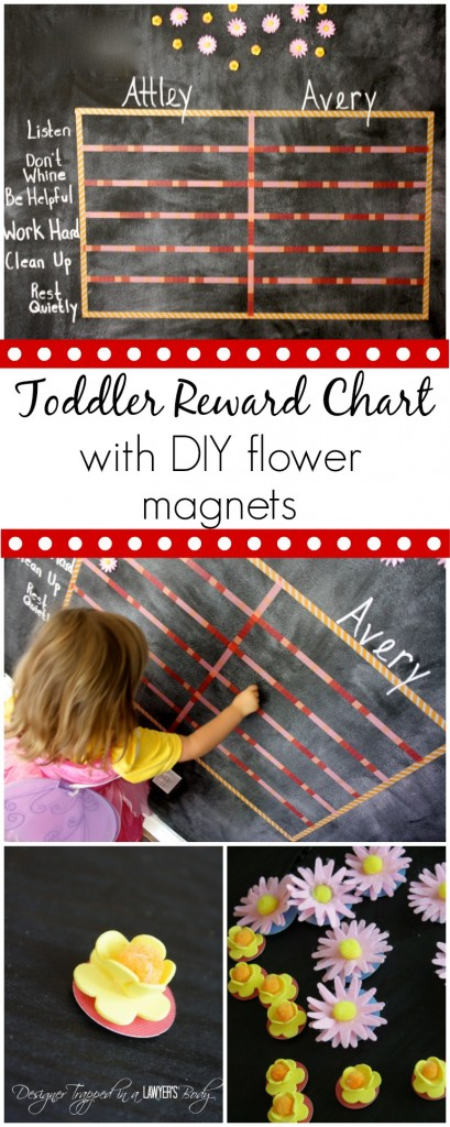 ADORABLE and easy toddler reward chart by Designer Trapped in a Lawyer's Body! #CraftandCleanUp #pmedia #ad
