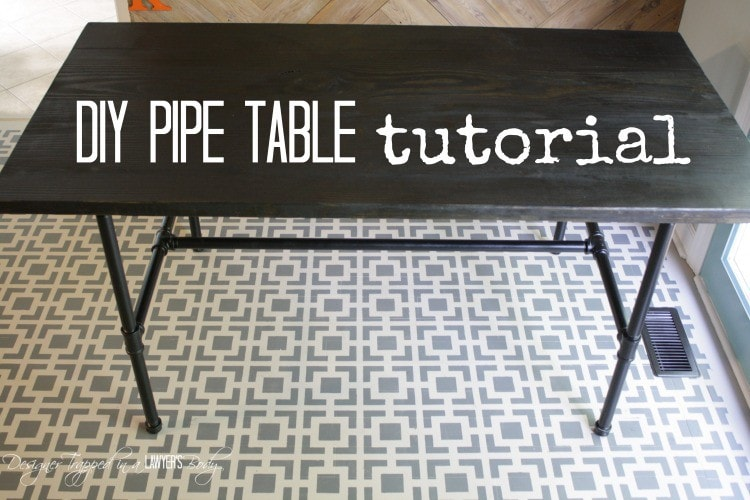Diy Pipe Table Tutorial How We Saved 1 800 Designer Trapped
