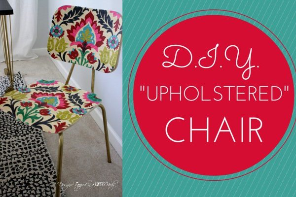 """""""Upholstered"""" Chair Tutorial at All Things Thrifty!"""