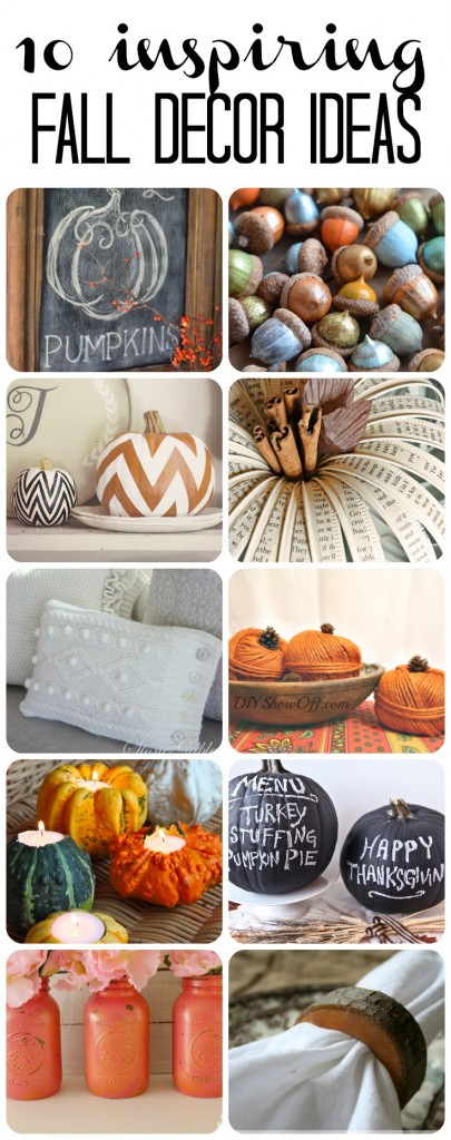 In need of some fall decor ideas to make for your home? These 10 Inspiring DIY Fall Decor Ideas will get you inspired for sure!