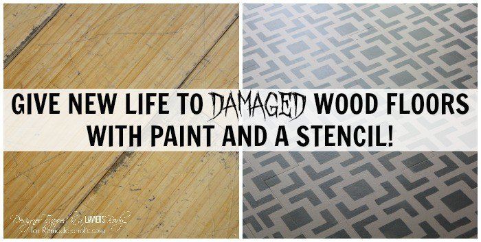 DIY painted wood floors