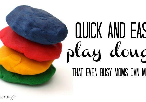 Easy Homemade Play Dough!