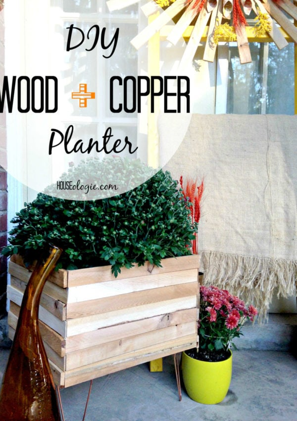 Wood and Copper DIY Planter