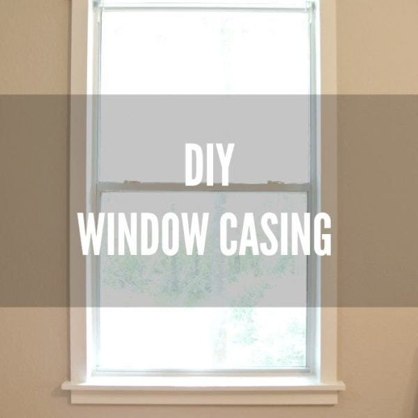 AWESOME DIY window casing tutorial by Little Red Brick House for Designer Trapped in a Lawyer's Body! #diy #windowcasing