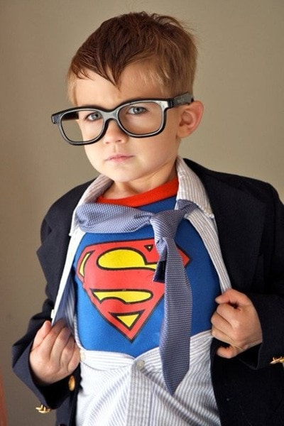 DIY toddler superman costume