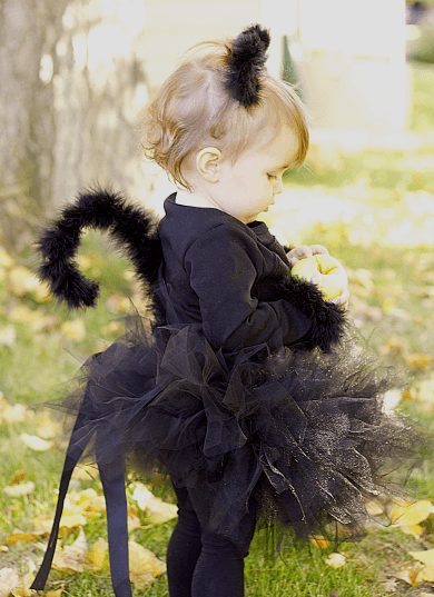 DIY toddler cat costume
