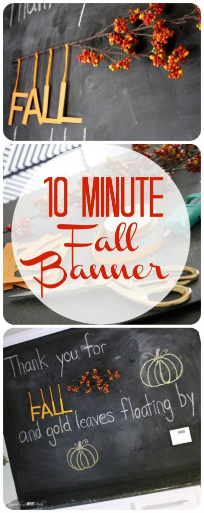 EASY DIY Fall Banner Tutorial by Designer Trapped in a Lawyer's Body. #falldecor