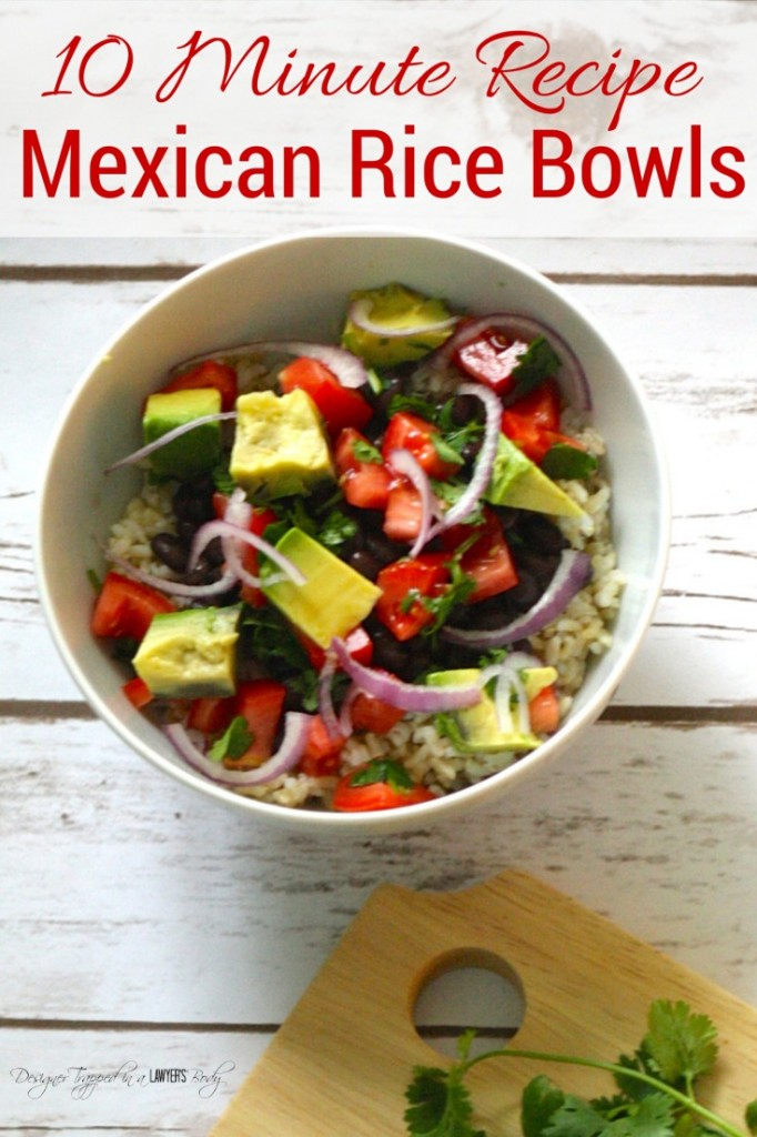 DELICIOUS 10 Minute Mexican Rice Bowl recipe! #10minuterecipe #meicanricebowl #successrice #ad
