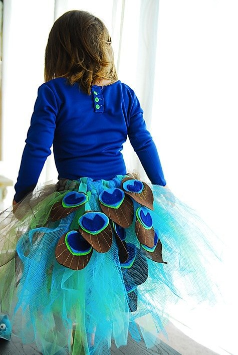 DIY toddler peacock costume
