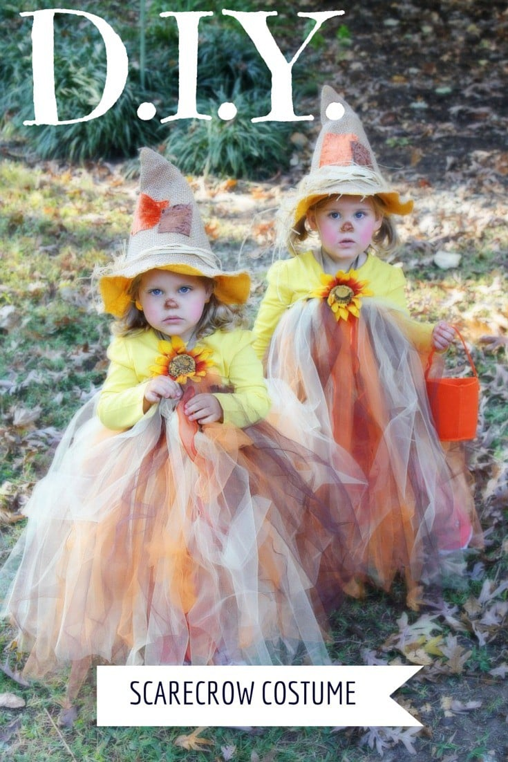 DIY toddler scarecrow costume