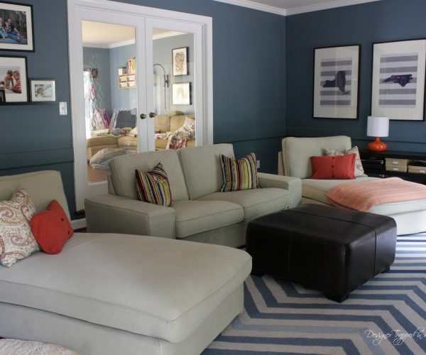 "See this blogger's plans for an inexpensive but high impact family room ""refresh""! / designertrapped.com"
