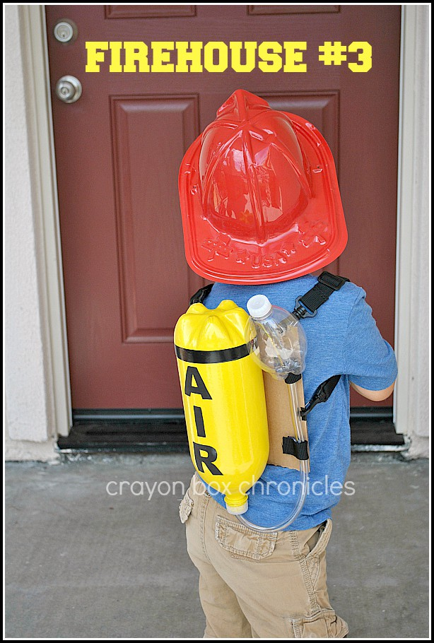 DIY toddler fireman costume
