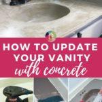 DIY concrete vanity