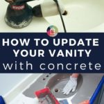 Concrete vanity and sink