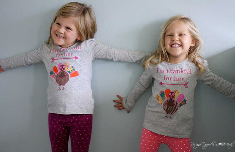 CUTEST Thanksgiving Shirts ever! Come check out the full tutorial for these turkey applique shirts by Designer Trapped in a Lawyer's Body!