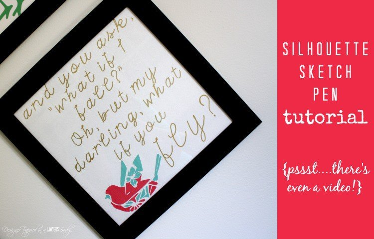 LOVE THIS! A beautiful, inspiring quote brought to life with Silhouette sketch pens! #silhouettetutorial #silhouettesketchpens