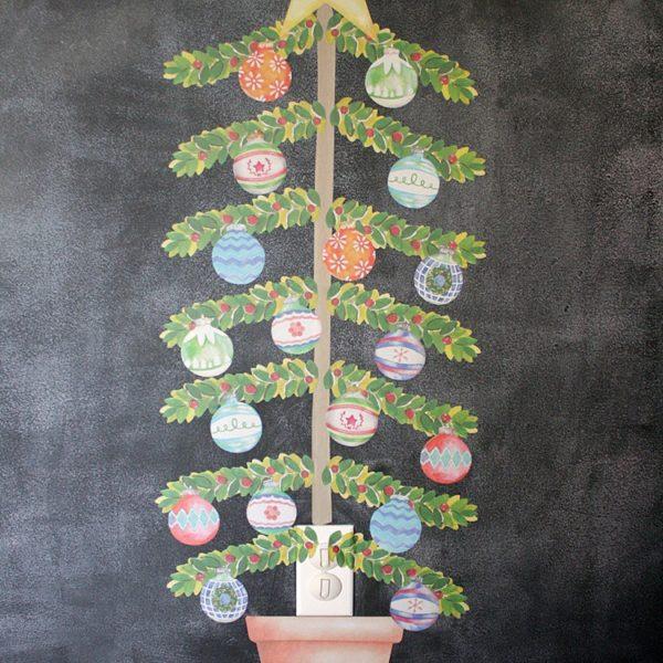 SO FUN! Easy, durable, kid-friendly Christmas decor from Wallternatives!