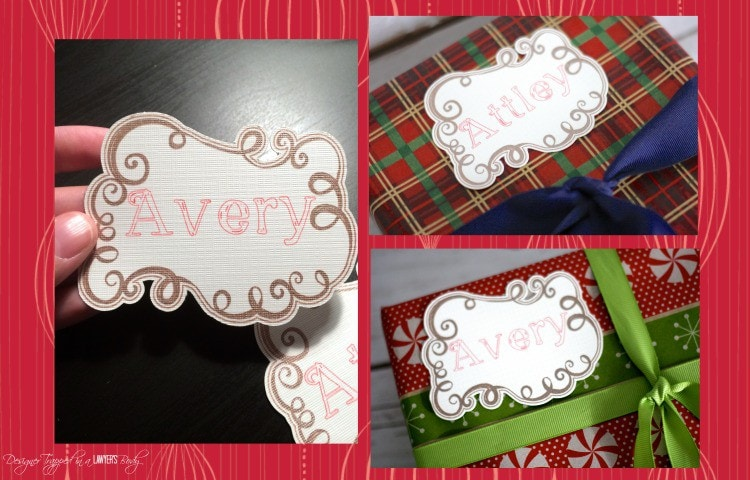 AMAZING! In search of pretty Christmas gift tags? Make your own! Check out these silhouette cameo ideas & DIY Christmas Tag tutorial by Designer Trapped in a Lawyer's Body!