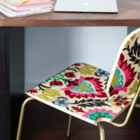 "How to Decoupage Furniture With Fabric for an ""Upholstered"" Look!"