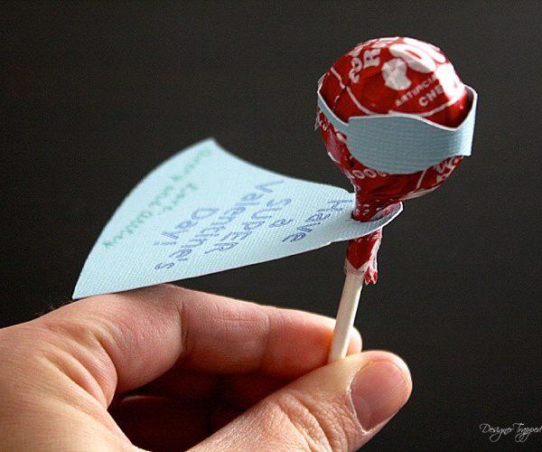 DIY Superhero Lollipop Valentines