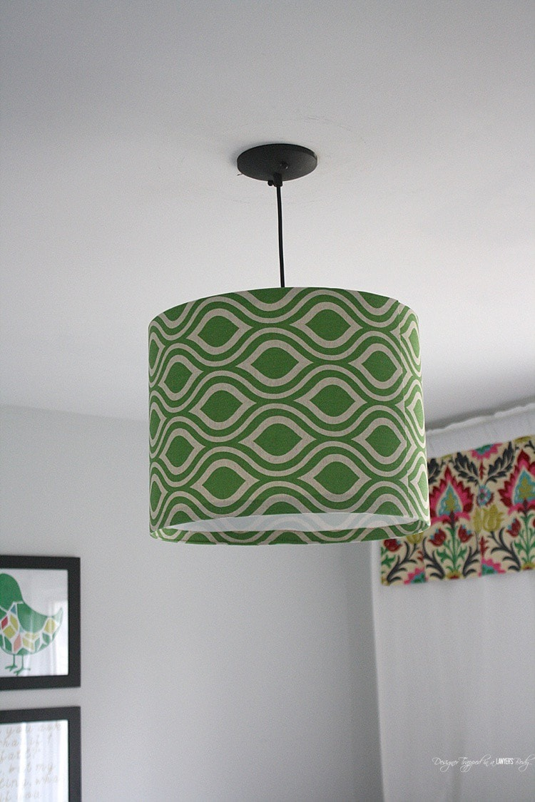 Diy Pendant Light Using Your Own Fabric