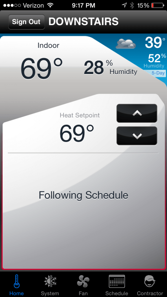 Outsmart erratic weather with a programmable thermostat that you can control with your smart phone! #sponsored