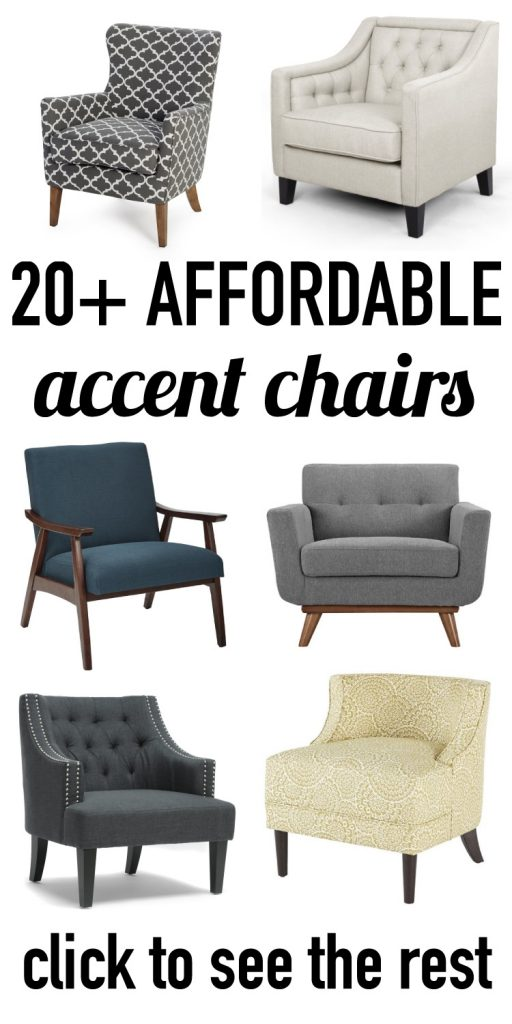 Affordable accent chairs are out there and they are super chic and stylish. This round-up features more than 20 of the most awesome and affordable accent chairs available.