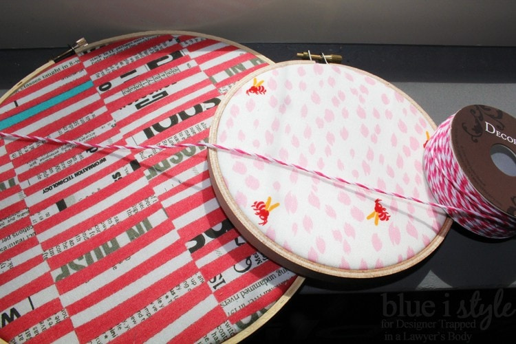 WHAT A FUN IDEA! Brighten up your home with this DIY embroidery hoop art tutorial by Blue i Style for Designer Trapped in a Lawyer's Body!