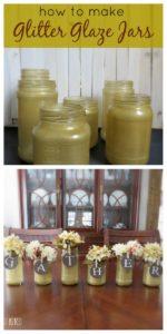 Glitter Glaze Jars