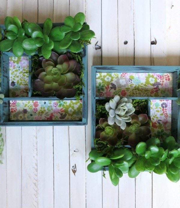 How to Make a No-Maintenance Vertical Succulent Garden!