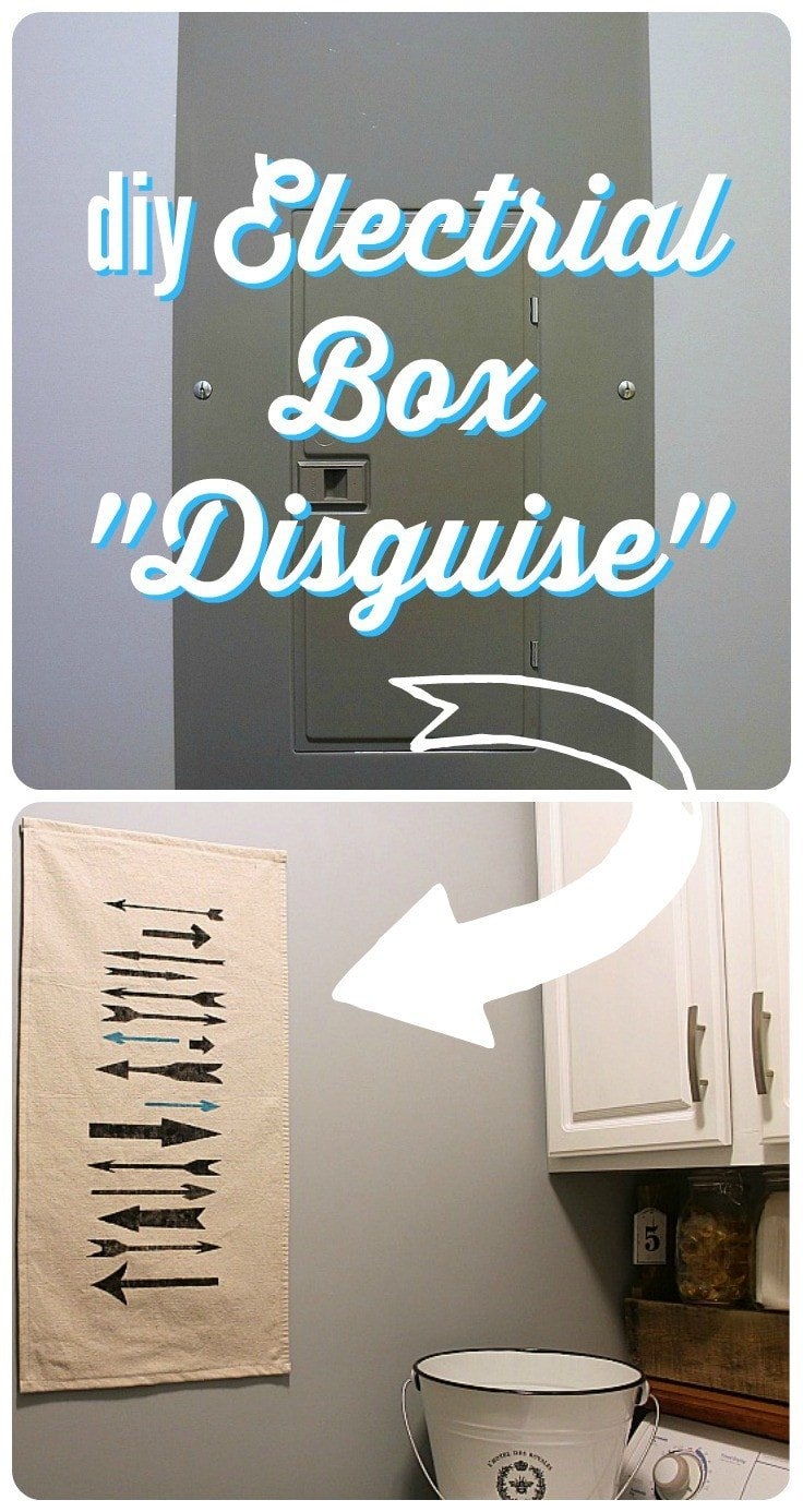 Come learn a fabulous way to disguise an unsightly electrical box with this DIY electrical box cover tutorial from DIY beautify for Designer Trapped in a Lawyer's Body!
