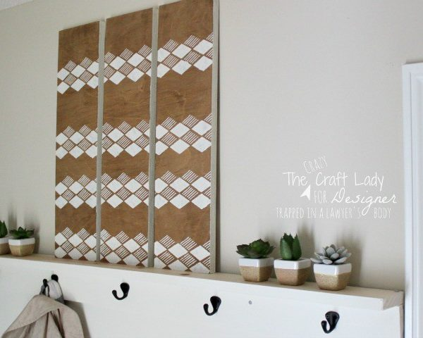Making Stencil Wall Art from Scrap Wood