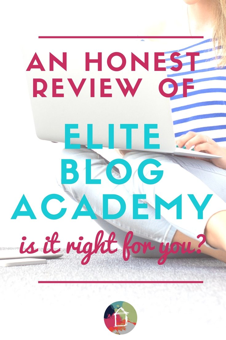 I've been hearing about Elite Blog Academy all over the place. This is the only article I've been able to find that answers all my questions about Elite Blog Academy and whether it's a blogging course that makes sense for me.