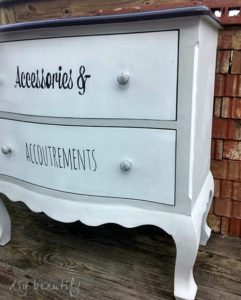 Give an old dresser an updated makeover with paint and labeled drawers! See the full tutorial at DIY beautify