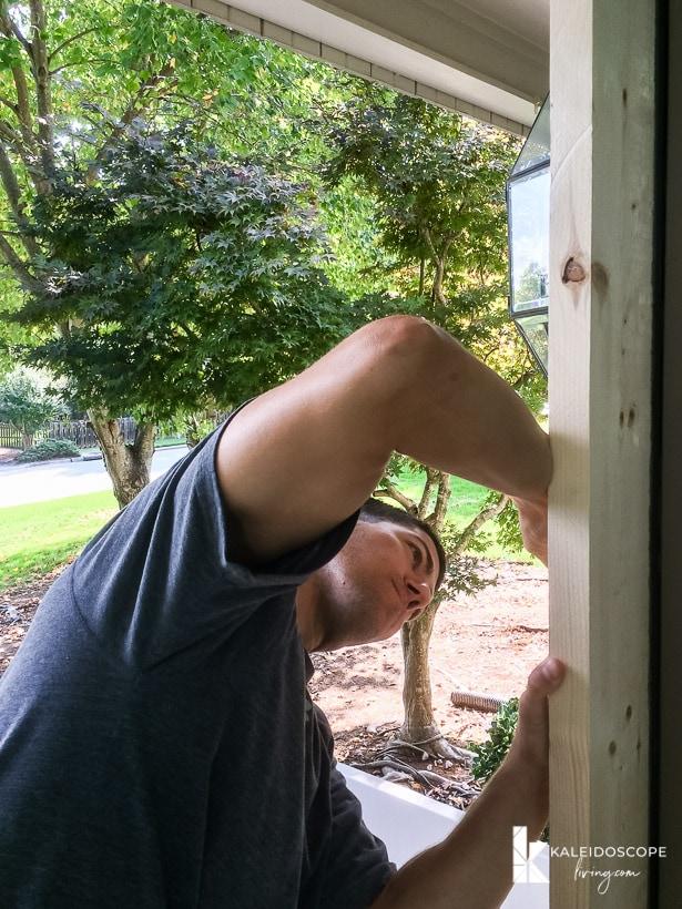 diy screen door marking hinges