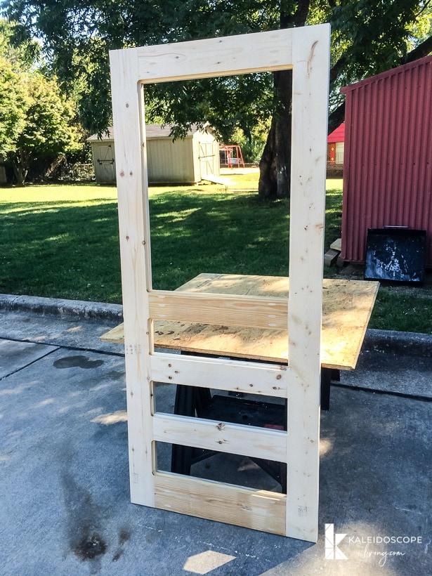 diy screen door assembled