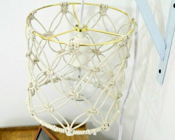 DIY Macrame Lamp Shade Tutorial