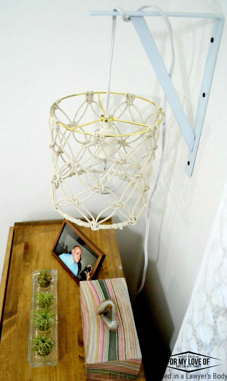 Diy Macrame Lamp Shade Tutorial Designer Trapped