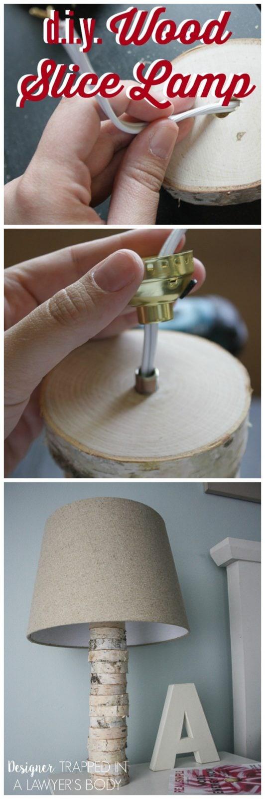 Diy Stacked Wood Lamp Anthropologie Inspired