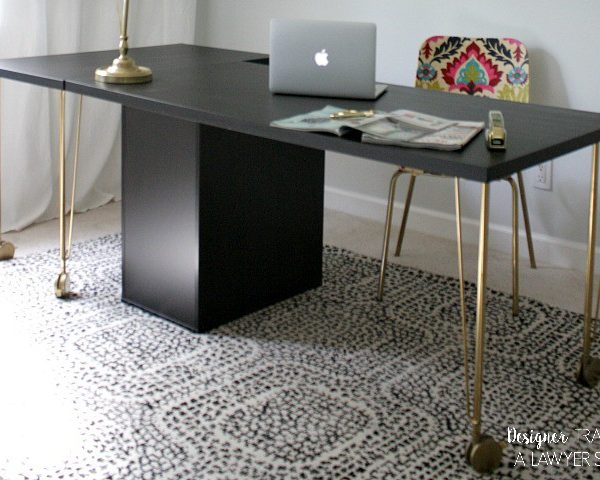 Easiest Ikea Desk Hack EVER!