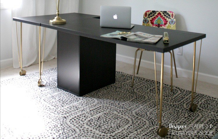 Super Easy Ikea Desk Hack Amazing