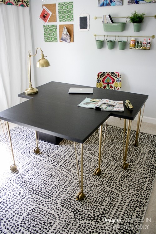 WOW! You would will never believe this easy Ikea desk hack! Talk about a designer look on a budget. Another fantastic Ikea hack by Designer Trapped in a Lawyer's Body.