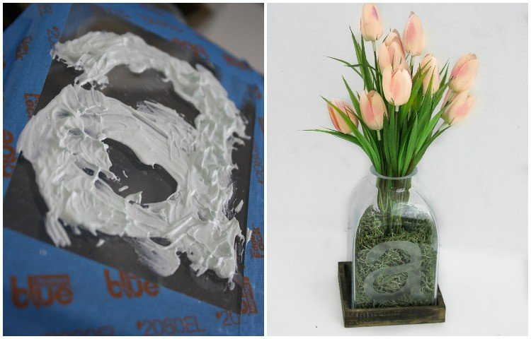 FABULOUS GIFT IDEA! Etching glass is easy with this DIY etched glass tutorial from Designer Trapped in a Lawyer's Body. Perfect for a wedding, housewarming, birthday or holiday gift!