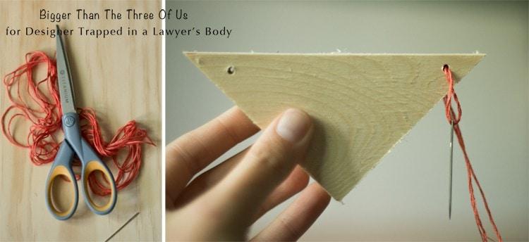 Make this Scrap Wood DIY Banner for Free!