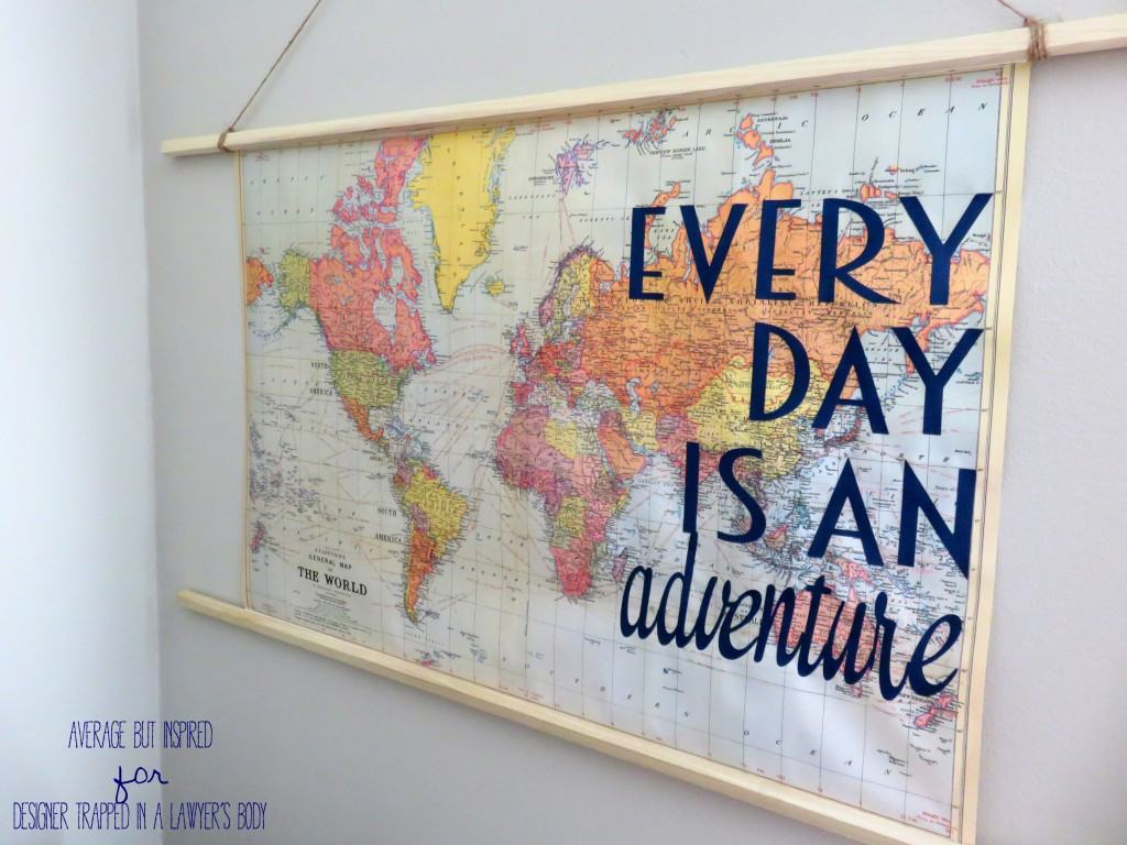 Ignite your wanderlust with this thrifty and fun DIY travel quote map art!