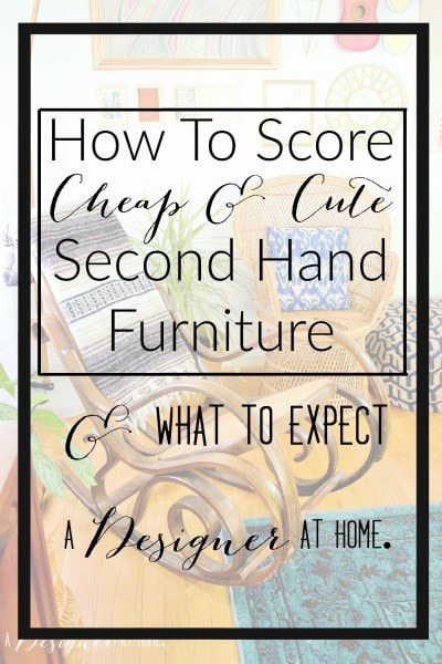 a great overview for second hand furniture purchasers!