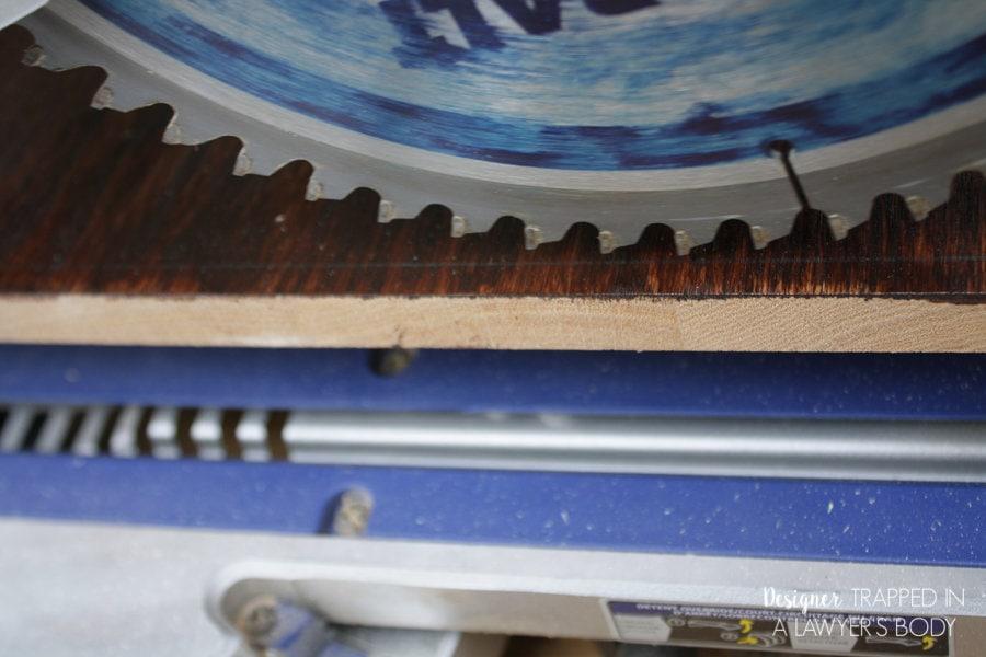 close up of saw