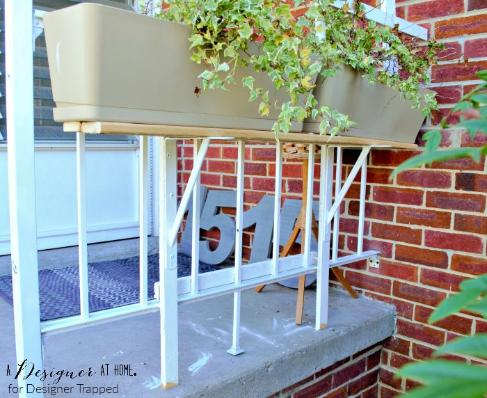 porch planter support made from recliamed wood stand A Designer At Home for Designer Trapped