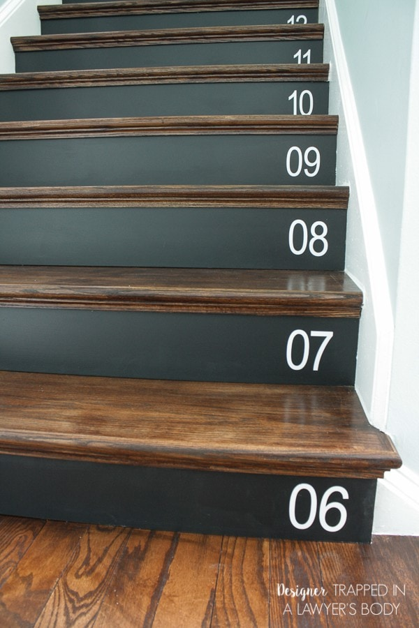 diy stair makeover with NuStair treads